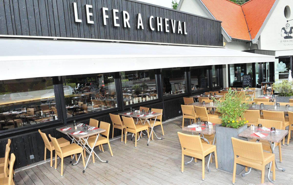 Restaurant le Fer à Cheval, terrasse